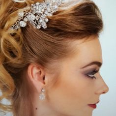 exquisite bling Hairpiece and Swarovski Crystal earnings. www.maeve.co .za