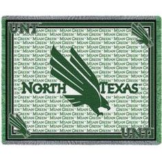 University of North Texas Throw Blanket Woven Afghan Tapestry