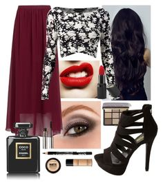 date night by jaceylea on Polyvore featuring polyvore, fashion, style, Charlotte Russe, Bobbi Brown Cosmetics, Barry M, Maybelline, Bare Escentuals, La Bella Donna, Chanel and Avon