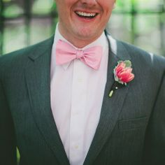 Pink and Gray Groom's Look