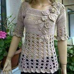 Resultado de imagem para blusas de crochet