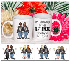 Unbiological Sister mug Best Friend Mug, Friend Mugs, Personalized Best Friend Gifts, Best Friends Funny, Sisters By Heart, Funny Mugs, Gifts For Friends, Friendship, Handmade Items