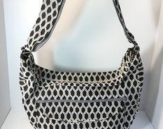 HOLIDAY GIFT~ Large Slouch Bag~CROSSBODY Bag-Black & White~Bags and Purses-Messenger Bag- Shoulder Bag-Fabric Bag- Handmade Bag-Original - Copy Listing - Etsy