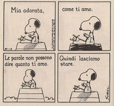 Snoopy in love.