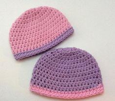 Crochet Preemie Hats Twins Warm NICU Caps by Crochet2Cherish4You
