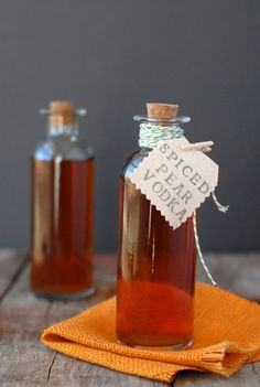 You to can make this ! Spiced pear vodka Mmmm!