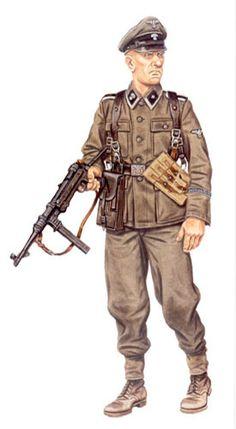 Unterscharführer, 34ª SS Grenadier División Landstorm Nederland, Holanda, 1944.
