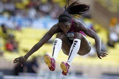 Caterine Ibargüen, magnífica atleta colombiana, campeona mundial en salto triple.