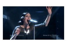 Anna Maria Espinosa wearing the Carolyn Cascio necklace by Anna Tascha in Swedish Eurovision Song Contest
