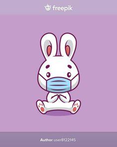 Cute rabbit using mask cartoon illustrat... | Premium Vector #Freepik #vector