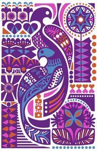 Bird Illustration by Sanna Annukka Art And Illustration, Character Illustration, Psychedelic Art, Art Beauté, L Wallpaper, Peacock Wallpaper, Art Graphique, Bird Art, Folk Art
