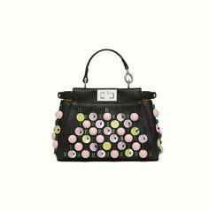 Fendi Micro Peekaboo with sequins and embroidery