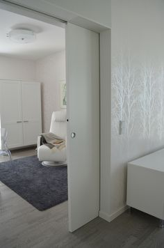 Villa Domus (house n. 22). Pocket door Eclisse single door without jambs and architraves
