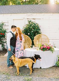 Elise & Michael of Brannan Events knew they wanted to celebrate with something special. So they put together a beautiful one year anniversary garden dinner and photoshoot