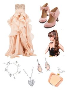 """""""Peach graduation day"""" by kwonrena ❤ liked on Polyvore featuring Reem Acra, David Yurman, Lalique and 1928"""