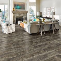 Allure ISOCORE 8.7 in. Wide x 47.6 in. Normandy Oak Taupe Resilient Vinyl Plank Flooring @ The Home Depot