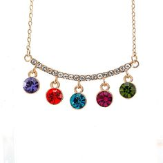 Fruit Pendants Crystal Inlay Necklace for $18.0000