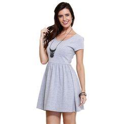 Vestido feminino manga curta