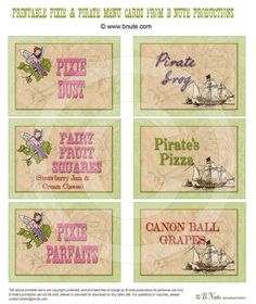 pirate party --food labels