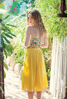 Music Festival https://sincerelysweetboutique.com/shop-collections/music-festivals.html - #music-festivals #festival #musicFestival - Skirt - Proper Introduction Belted Pleat Midi Skirt in Mustard