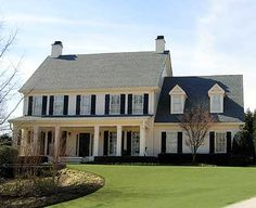 colonial homes with front porches - Google Search   exterior ...