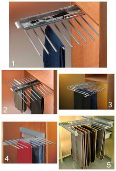 Pantaloneros extraibles para el interior de tu armario ropero o vestidor - Trousers pull-out, pants pull-out, Porte-pantalons - Support pour pantalons