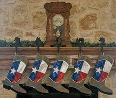 Texas Christmas Stockings-Texas Boot Stockings I am going to try to make some of these.