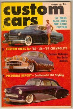 Custom Cars Dec 1957 Vol 1 #4 Old Vintage Hot Rod Magazine 1955-1957 Chevy Merc