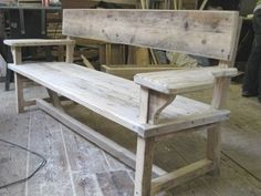 sitting benches indoor   How to Build a Wooden Park Bench   eHow.com