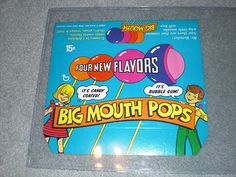Big Mouth Pops were my FAVORITE suckers growing up. I still have 1 saved from 1988!!