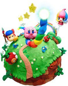 Kirby Cake. Video Game Cake