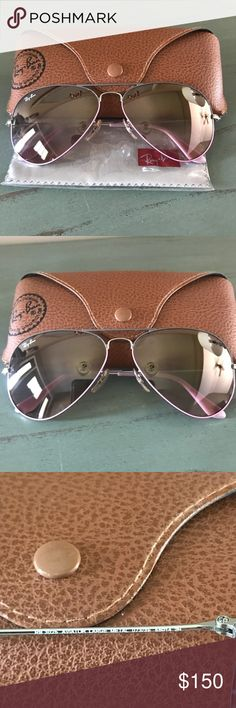03c3ba5a8c8f 💗RARE!!!Orchid colored frames Silver Mirrored Lenses. Limited Edition.  Includes case   dust cloth. Excellent Condition! Ray-Ban Accessories  Sunglasses