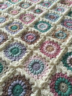 Beautiful warm & cozy handmade crocheted baby blanket
