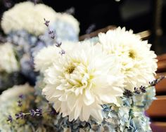 Dahlia, Hydrangea, Lavender