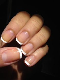 Photos of Simply Unique Nails - San Francisco, CA. Perfect french manicure in my short nails! French Manicure Gel, French Nails, Short French Tip Nails, Short Nail Manicure, Short Gel Nails, French Manicure Designs, Manicure And Pedicure, Nail Designs, Manicure Ideas