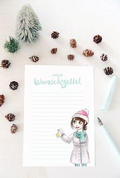 mein Feenstaub – DIY, Deko und Rezepte: {Printable für euch} Weihnachtswunschzettel