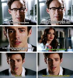 """""""I freely confess to the murder of Nora Allen"""" - Dr. Wells, Barry and Caitlin #TheFlash ((I can't believe this happened))"""
