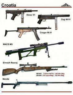 Хорватия: Dleter M 91, Zagi M-91, Crogar M-91, ...