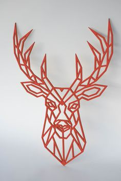 Animal Wooden Wall Art DEER Head Wall Decor / Wooden Sign If you are looking for a piece of art in y Wooden Wall Art, Wooden Walls, Wooden Signs, Airtight Food Storage Containers, Plastic Container Storage, Sign Materials, Diy Garden Decor, Home Decor Wall Art, Deer
