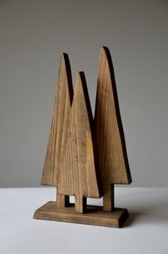 Christmas tree ornament handmade from reclaimed wood