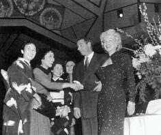 Marilyn Monroe and Joe DiMaggio in Japan, 1954.