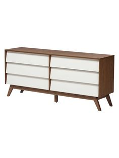 hildon midcentury 6drawer storage dresser by design studios at gilt