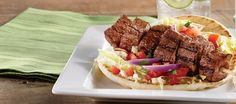 Steak Kebab Pita - Grilled Entrées - Make It Your Own - Trending Now - GFS.com