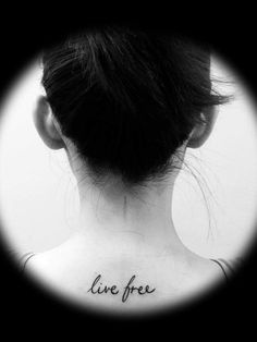 Perfect freedom based small tattoo idea for the back