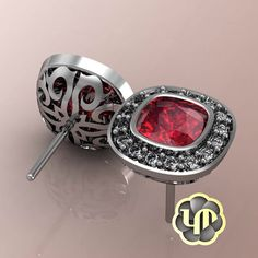 #nofilter #earring #ruby #diamonds #womens #red #white #whitegold #gold #special #gift #custommade #gallery #round #brilliance #square #luxury #jewelry #love #elegant #fashion