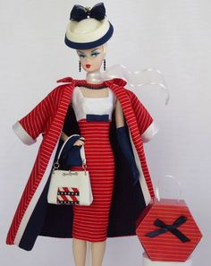 "Handmade Vintage Barbie/Silkstone Fashion by Roxy- ""BON VOYAGE"" - 12pcs #FITSVINTAGEREPRODUCTIONSANDSILKSTONEBARBIE"
