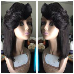 Long bob  Full lace unit wig   @audaciousstyle