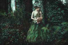 Dreamscapes - The Forest's Secret Green fairy in the deep woods
