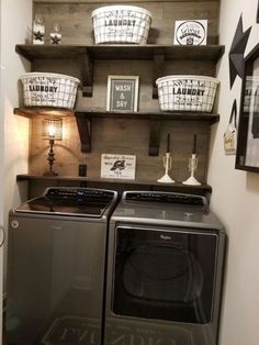 Wonderful laundry room for design small spaces ideas. Wonderful laundry room for design small spaces ideas. Wonderful laundry room for design small spaces ideas Small Laundry Rooms, Laundry Room Organization, Laundry Room Design, Laundry In Bathroom, Basement Laundry, Shelving In Laundry Room, Ideas For Laundry Room, Vintage Laundry Rooms, Budget Bathroom