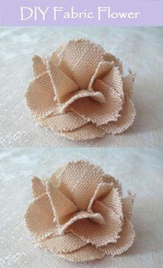 DIY Fabric Flower - My Wildflower